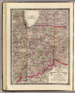 Cram's Rail Road & Township Map of Indiana. Published by Geo. F. Cram. Proprietor of the Western Map Depot. 66, Lake St. Chicago Ills. 1875.