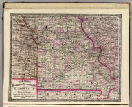Cram's Rail Road & Township Map of Missouri. Published by Geo. F. Cram. Proprietor of the Western Map Depot. 66, Lake St. Chicago Ills. 1875.