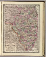 Cram's Rail Road & Township Map of Illinois. Published by Geo. F. Cram. Proprietor of the Western Map Depot. 66, Lake St. Chicago Ills. 1875.
