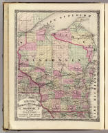 Cram's Rail Road & Township Map of Wisconsin. Published by Geo. F. Cram. Proprietor of the Western Map Depot. 66, Lake St. Chicago Ills. 1875.