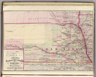Cram's Rail Road & Township Map of Nebraska. Published by Geo. F. Cram. Proprietor of the Western Map Depot. 66, Lake St. Chicago Ills. 1875.