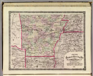 Cram's Rail Road & Township Map of Arkansas. Published by Geo. F. Cram. Proprietor of the Western Map Depot. 66, Lake St. Chicago Ills. 1875.