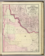 Cram's Rail Road & Township Map of Idaho. Published by Geo. F. Cram. Proprietor of the Western Map Depot. 66, Lake St. Chicago Ills. 1875.