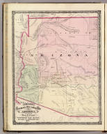 Cram's Rail Road & Township Map of Arizona. Published by Geo. F. Cram. Proprietor of the Western Map Depot. 66, Lake St. Chicago Ills. 1875.