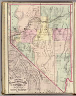 Cram's Rail Road & Township Map of Nevada. Published by Geo. F. Cram. Proprietor of the Western Map Depot. 66, Lake St. Chicago Ills. 1875.