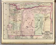 Cram's Rail Road & Township Map of Oregon. Published by Geo. F. Cram. Proprietor of the Western Map Depot. 66, Lake St. Chicago Ills. 1875.