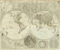 (Composite of) A general map of the world or terraqueous globe, with all the new discoveries and marginal delineations, containing the most interesting particulars in the solar, starry and mundane systems. By Saml. Dunn, Mathematician. London: printed for Rt. Sayer, Map, Chart and Printseller, 53 Fleet Street, 1787.