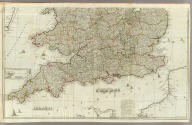 (England and Wales, drawn from the most accurate surveys containing all the cities, boroughs, market towns & villages, Southern section. In which are included all the improvements and observations both astronomical and topographical, which have been made by members of the Royal Society & others. Down to the present year, the whole corected & improv'd by John Rocque, Chorographer to his Majesty). London, printed for Robt. Sayer, Map & Printseller at the Golden Buck in Fleet Street, (1790?)