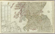 (A new and correct map of Scotland or North Britain, with the post and military roads, divisions &ca. Southern section. Drawn from the most approved surveys, illustrated with many additional improvements, and regulated by the latest astronomical observations by Lieut. Campbell. London, printed for Robt. Sayer, no. 53 Fleet Street, as the Act directs 10 Jany. 1790)