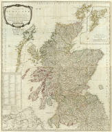 (Composite of) A new and correct map of Scotland or North Britain, with the post and military roads, divisions &ca. Drawn from the most approved surveys, illustrated with many additional improvements, and regulated by the latest astronomical observations by Lieut. Campbell. London, printed for Robt. Sayer, no. 53 Fleet Street, as the Act directs 10 Jany. 1790.