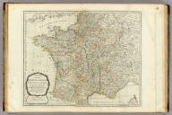 A new map of the Kingdom of France divided into its governments, with all the post roads according to the latest description. Published by order of the Post-master General. London, printed for Robert Sayer, Fleet Street, (1790?)