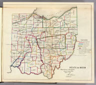 State of Ohio. Department of Interior, General Land Office, October 2d 1866. Jo. S. Wilson, Commissioner. The Major & Knapp Eng. Mfg. & Lith. Co. 71 Broadway N.Y.