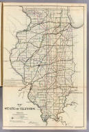 Map of the State of Illinois. Department of Interior, General Land Office, October 2d 1866. Jo. S. Wilson, Commissioner. Bowen & Co. lith. Phila.