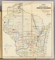 Sketch of the Public Surveys in the State of Wisconsin. Department of the Interior, General Land Office, October 2nd 1866. Jo. S. Wilson, Commissioner. The Major & Knapp Eng. Mfg. & Lith. Co. 71 Broadway, N.Y.