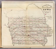 Diagram of the Public Surveys in Iowa. Department of the Interior, General Land Office, October 2nd 1866. Jo. S. Wilson, Commissioner. No. 7.