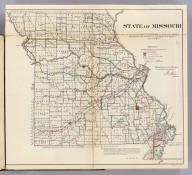 State of Missouri. Department of the Interior, General Land Office, October 2nd 1866. Jo. S. Wilson, Commissioner. No. 9. Bowen & Co. Lith. Phila.