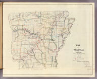 Map of Arkansas. Department of the Interior, General Land Office, October 2nd 1866. Jo. S. Wilson, Commissioner. No. 10.