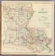 Map of Louisiana. Department of the Interior, General Land Office, October 2nd 1866. Jo. S. Wilson, Commissioner. No. 11. Joseph Gorlinski, Draughtsman, G.L.O.
