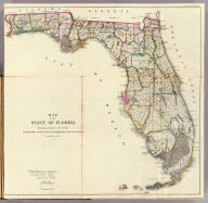Map of the State of Florida, Showing the Progress of the Surveys Accompanying Annual Report of the Commissioner Genl. Land Office. Department of the Interior, General Land Office, October 2nd 1866. Jo. S. Wilson, Commissioner. Lith. of J. Bien, 24 Vesey Street, N.Y. Sen Ex. Doc. No. 1, 2d. Sess: 36 Cong.