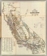 Map of the Public Surveys in California and Nevada to accompany Report of the Commissioner of the General Land Office 1866. Department of the Interior, General Land Office, October 2nd 1866. Jo. S. Wilson, Commissioner. Lith. of J. Bien, 24 Vesey Street, N.Y. House R. Ex. Doc. No. 1. 38th Cong. 1st. Sess.