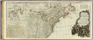 A new map of North America, with the West India Islands. (Northern section). Divided according to the Preliminary Articles of Peace, signed at Versailles, 20. Jan. 1783, wherein are particularly distinguished the United States, and the several provices, governments &ca. which compose the British Dominions, laid down according to the latest surveys, and corrected from the original materials, of Goverr. Pownall, Membr. of Parliamt., 1783. (London, printed for Robt. Sayer, Map, Chart & Printseller, no. 53, Fleet Street, as the Act directs August 15th 1786)