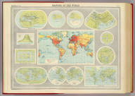 """Mapping of the world. The Edinburgh Geographical Institute, John Bartholomew & Son, Ltd. """"The Times"""" atlas. (London: The Times, 1922)"""