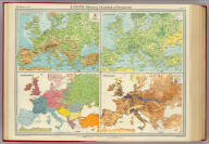 """Europe - physical features & population. The Edinburgh Geographical Institute, John Bartholomew & Son, Ltd. """"The Times"""" atlas. (London: The Times, 1922)"""