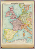 "Western Europe - communications. The Edinburgh Geographical Institute, John Bartholomew & Son, Ltd. ""The Times"" atlas. (London: The Times, 1922)"