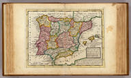 Spain and Portugal. Divided into all its kingdoms and principalities &c. Agreeable to modern history. By H. Moll Geographer. (Printed and sold by T. Bowles next ye Chapter House in St. Pauls Church yard, & I. Bowles at ye Black Horse in Cornhill, 1736?)