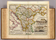 A general map of Turky in Europe, Hungary &c. By H. Moll Geographer. (with views:) Belgrade (and) Temeswar. (Printed and sold by T. Bowles next ye Chapter House in St. Pauls Church yard, & I. Bowles at ye Black Horse in Cornhill, 1736?)