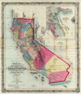 Approved and declared to be the official map of the State of California by an act of the Legislature passed March 25th 1853. Compiled by W.M. Eddy State Surveyor General. Published for R.A. Eddy, Marysville, California by J.H. Colton, No. 86 Cedar St. New York 1854. Authorities --- (with inset:) San Francisco and Adjoining Bays. Engraved on stone by Schedler & Liebler, 129 William St. New York. Printed by D. McLellan, 26 Spruce St. N.Y. Entered according to act of Congress in the year 1853 by Wm. M. Eddy in the Clerk's Office of the District Court of the United States for the Northern District of California.