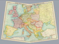 "(Composite of) Western, Eastern Europe - communications. The Edinburgh Geographical Institute, John Bartholomew & Son, Ltd. ""The Times"" atlas. (London: The Times, 1922)"