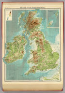 "British Isles -- bathy-orographical. The Edinburgh Geographical Institute, John Bartholomew & Co. ""The Times"" atlas. (London: The Times, 1922)"