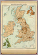 "British Isles - railways & industrial. (with) Distribution of land under cultivation. (with) Distribution of land under pasture. The Edinburgh Geographical Institute, John Bartholomew & Co. ""The Times"" atlas. (London: The Times, 1922)"