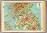 """Scotland - southern section. The Edinburgh Geographical Institute, John Bartholomew & Co. """"The Times"""" atlas. (London: The Times, 1922)"""