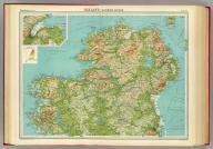 """Ireland - northern section. The Edinburgh Geographical Institute, John Bartholomew & Co. """"The Times"""" atlas. (London: The Times, 1922)"""