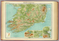 """Ireland - southern section. The Edinburgh Geographical Institute, John Bartholomew & Co. """"The Times"""" atlas. (London: The Times, 1922)"""