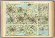 """Towns of England & Scotland on a uniform scale. The Edinburgh Geographical Institute, John Bartholomew & Co. """"The Times"""" atlas. (London: The Times, 1922)"""