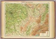 """France - north-eastern section. The Edinburgh Geographical Institute, John Bartholomew & Co. """"The Times"""" atlas. (London: The Times, 1922)"""