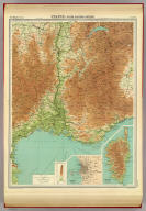 """France - south-eastern section. (with) Corse, Corsica. (with) Marseille. The Edinburgh Geographical Institute, John Bartholomew & Co. """"The Times"""" atlas. (London: The Times, 1922)"""