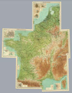 "(Composite of) Section maps of France, Belgium & Holland on scale of 1:1,000,000. The Edinburgh Geographical Institute, John Bartholomew & Co. ""The Times"" atlas. (London: The Times, 1922)"