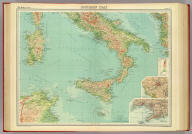 """Southern Italy. (with Rome Region). (with Naples Region). The Edinburgh Geographical Institute, John Bartholomew & Son, Ltd. """"The Times"""" atlas. (London: The Times, 1922)"""