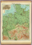"""Germany - western section. (with Berlin Region). The Edinburgh Geographical Institute, John Bartholomew & Son, Ltd. """"The Times"""" atlas. (London: The Times, 1922)"""
