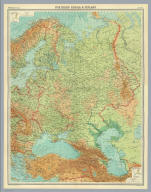 """(Composite of) Russia & Finland. The Edinburgh Geographical Institute, John Bartholomew & Son, Ltd. """"The Times"""" atlas. (London: The Times, 1922)"""