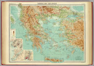 """Greece and the Aegean. (with Athens Region). (with Dardanelles). (with Bosporus Region). The Edinburgh Geographical Institute, John Bartholomew & Son, Ltd. """"The Times"""" atlas. (London: The Times, 1922)"""