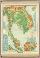 """Farther India. (with Andaman and Nicobar Islands). (with Singapore Strait Region). (with Singapore Region). The Edinburgh Geographical Institute, John Bartholomew & Co. """"The Times"""" atlas. (London: The Times, 1922)"""