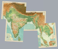 """(Composite of) Section maps of India. The Edinburgh Geographical Institute, John Bartholomew & Co. """"The Times"""" atlas. (London: The Times, 1922)"""