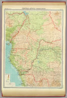 """Central Africa - western section. The Edinburgh Geographical Institute, John Bartholomew & Son, Ltd. """"The Times"""" atlas. (London: The Times, 1922)"""