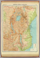 """Central Africa - eastern section. The Edinburgh Geographical Institute, John Bartholomew & Son, Ltd. """"The Times"""" atlas. (London: The Times, 1922)"""