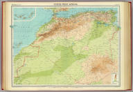 """North-west Africa. The Edinburgh Geographical Institute, John Bartholomew & Son, Ltd. """"The Times"""" atlas. (London: The Times, 1922)"""